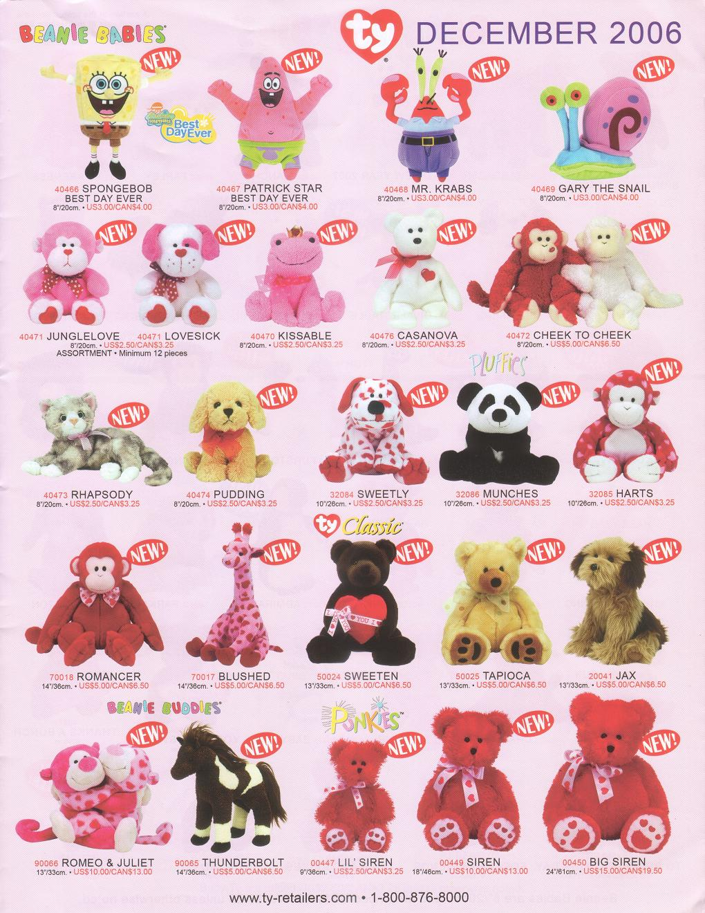 b2f7ebf774c Updated information on the posting below! The new releases have been  officially announced! Introducing December 2006. Beanie Babies